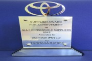 Chemetall receives award from Toyota South Africa Motors